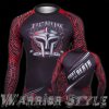 Venum Gladiator Rashguard - Black Red - Long Sleeves 1